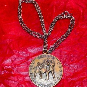 1776 - 1976 bicentennial US coin necklace